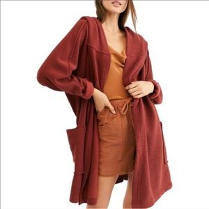 Free People Willow Hooded Oversized Cardigan